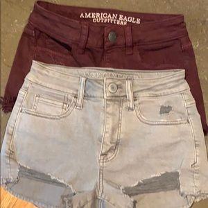 American Eagle Hi-Rise Shorties. Size 00